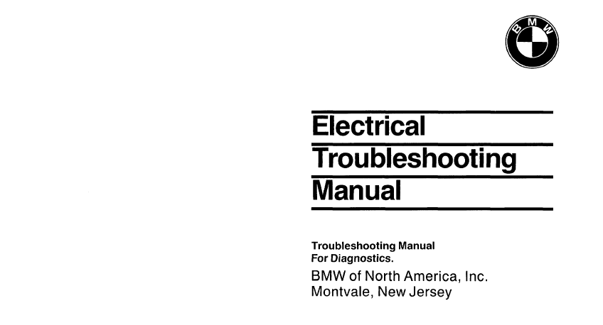 BMW Wiring Electrical Troubleshooting Manual 3 5 7 Series